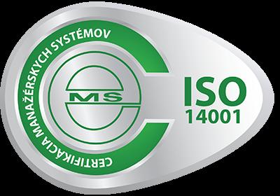 vzor certifikačnej známky ISO 14001 od CeMS