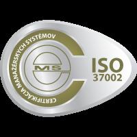 vzor certifikační známky ISO 37002 od CeMS